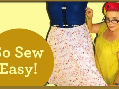 Making a 2 Panel Circle Skirt - So Sew Vintage