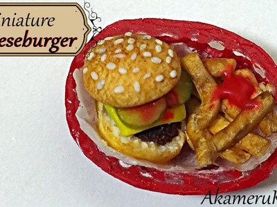 Miniature Cheeseburger & Fries basket - Polymer Clay Tutorial