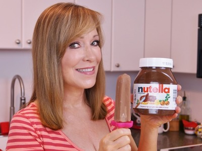 NUTELLA Popsicles Recipe! NUTELLA Fudgesicles! How To Make Ice Pops! Di Kometa-Dishin' With Di #92