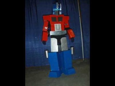 Optimus Prime - Cardboard Costume - Slide Show & Narration