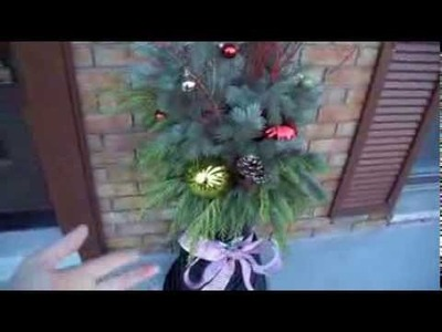 Outdoor Holiday Decor on a budget