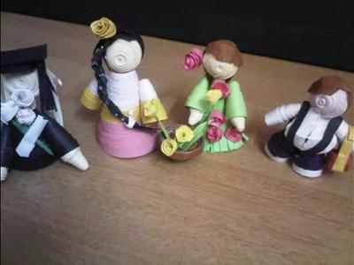 Paper quilling dolls