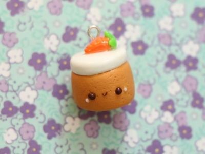 Polymer Clay Carrot Cake Charm Tutorial
