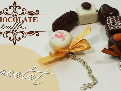 Polymer clay Chocolate Truffles bracelet TUTORIAL | part 1.2