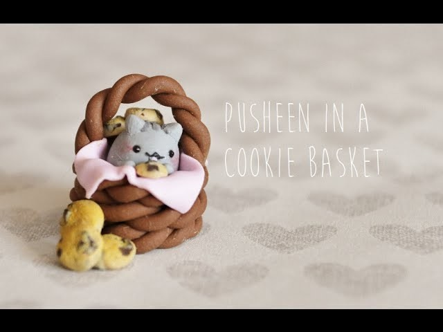 Polymer Clay Tutorial Pusheen in a Cookie Basket