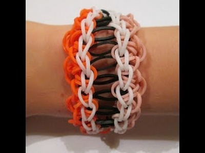 Rainbow Loom- How to make an Aileen Bracelet (Original Design)