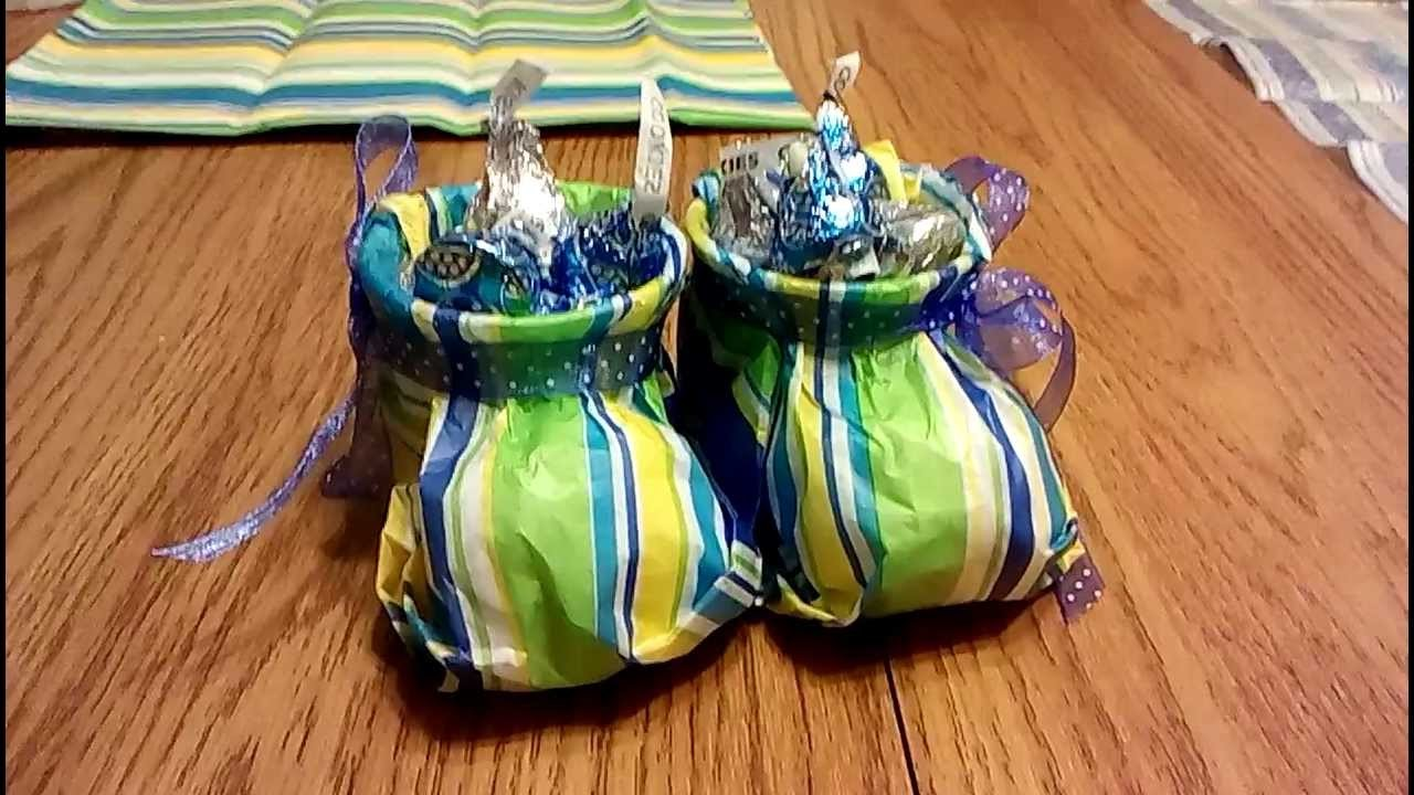 Tissue Paper Baby Booties Tutorial