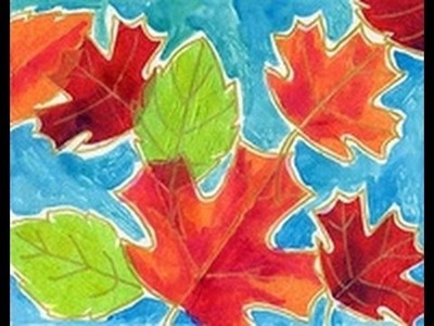 Tissue Paper Leaf Art | Cullen's Abc's