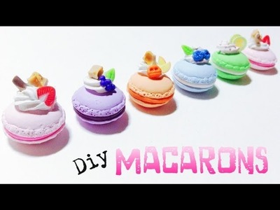 Tutorial : Polymer Clay Macarons ( MOLD )