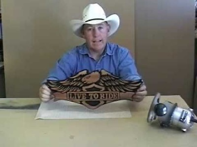 #18 Video  How to Carve Wood Signs - Part 1 of 7 Live to Ride