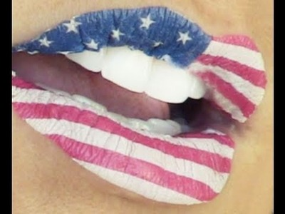 4th of July & Flag Lips | Kandee Johnson