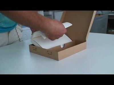 Cardboard packaging design Foldlife -- made from one sheet no glue.MPG