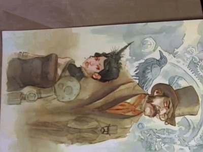 Distress Ink painting-steampunk