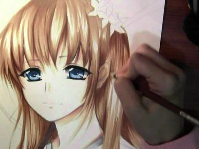 Drawing Anime girl in Kimono