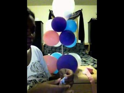 Easy balloon centerpiece 4