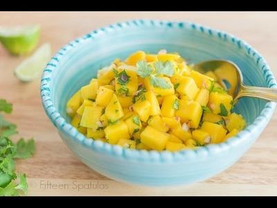 FRESH MANGO SALSA RECIPE- How to Make Mango Salsa