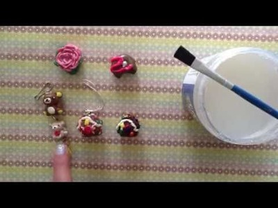 How to glaze polymer clay charms