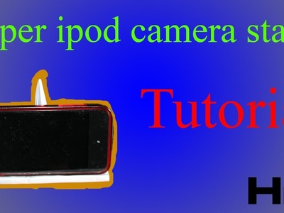 How to make a paper iPod.iPhone.iPad camera stand (tutorial) (Adjustable)