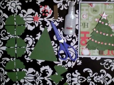 How to make a Paper Christmas Tree using Scalloped Circles