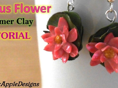 Lotus Flower Earrings.Charms - Polymer Clay Tutorial