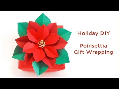 Poinsettia Gift Wrapping