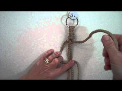 Square Knots in 4 Easy Steps from MacrameForFun.com