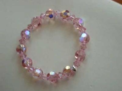 Swarovski light roseAB stretchy bracelet