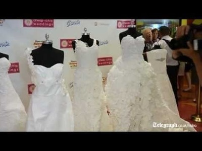 Wedding dress made out of 10 rolls of toilet paper wins contest