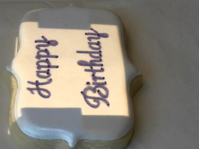 Writing On A Cookie With A Kopykake Projector