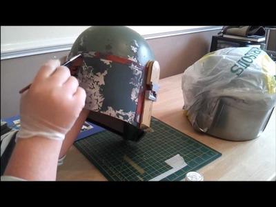 Boba Fett Helmet: Episode 12, Stencils and masking Fluid