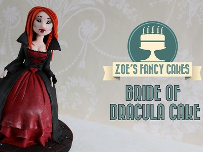 Bride of Dracula Halloween doll cake cupcake How To Cake Tutorial
