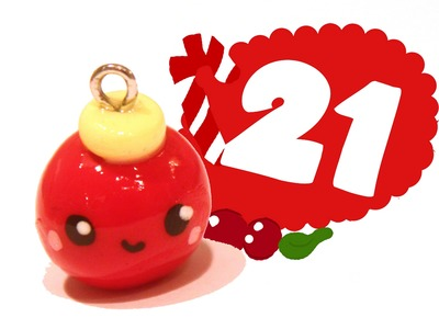 ❤ Christmas Ball! Kawaii Christmas 21 -Polymer Clay tutorial