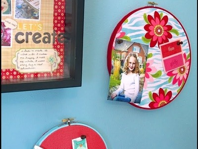 DIY Bulletin Boards from Embroidery Hoops