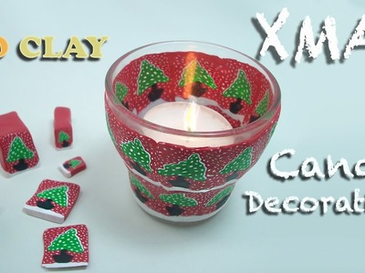 Diy Holiday Decor - Christmas Candle holder - Portacandela per Natale - Portavela navideño