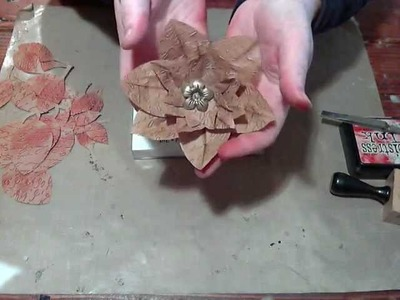 Flower Friday - Vintage Paper Bag Flower Tutorial
