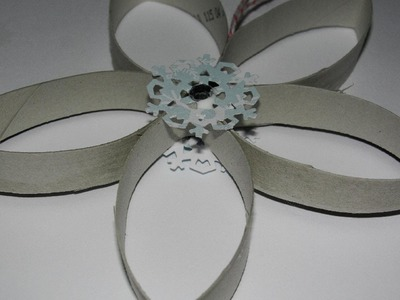 Ornament made from a Toilet Paper Roll - Snowflake Ornament