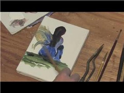 Painting on Canvas : How to Paint Fairies on Canvas