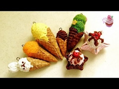 Polymer clay tutorial: Realistic Ice-creams