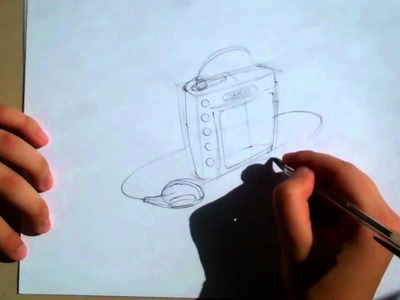 Sketching Tutorial - How to Draw an MP3 player - Part 1