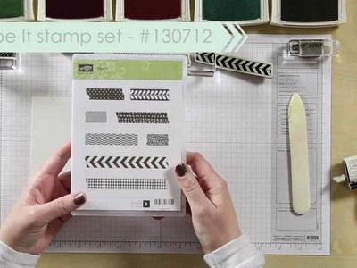 Washi Tape & Tape It Stamp Set -- Shannon West