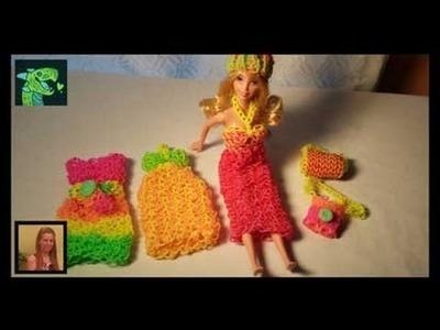 Barbie's Summer Dress on the Rainbow Loom 3D