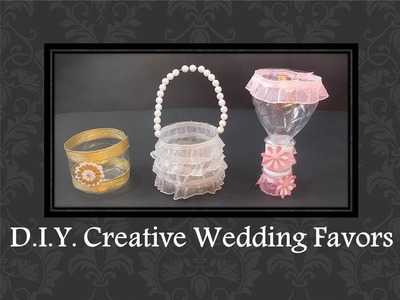 D.I.Y. Easy Creative Wedding Favors ideas