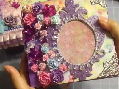Fairy Flora Mini Album w. Matching Box (WARNING- Lots of Sparkles! LOL!)