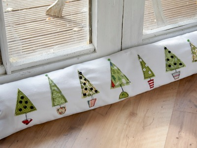 Free motion Christmas tree draught excluder tutorial by Debbie Shore