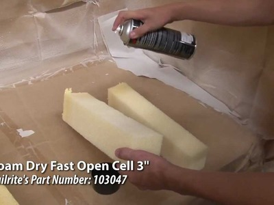 Gluing Test for Dry Fast. Open Cell Foam