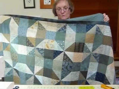 "How to make a Cotton Reel Big Block using 5"" squares - Quilting Tips & Techniques 069"