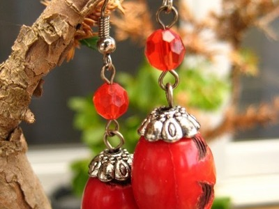 How to make a Dangling Earrings - Tutorial - Liz Kreate