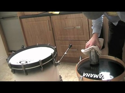 How to make a hole for bass drum.