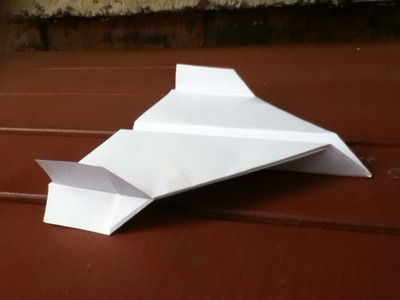 How to Make a Paper Plane, with Wing Flaps Up and Down - Step by Step Instructions - Tutorial