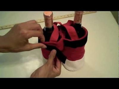 How to Make a Santa Pants Wine Bag
